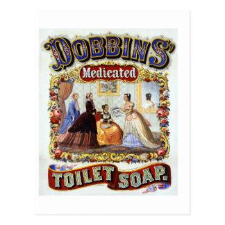 Jabón del retrete medicado de los caballos de postal