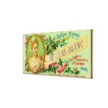 Jabón LabelParis, Francia de Lilas Blanc del Au Impresión En Lona Estirada