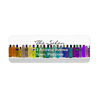 Jabone el arco iris de la botella - para los cuart etiqueta de remite