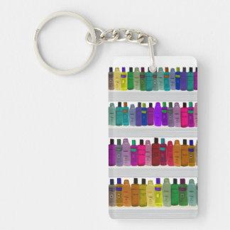 Jabone el arco iris de la botella - para los cuart llavero rectangular acrílico a doble cara