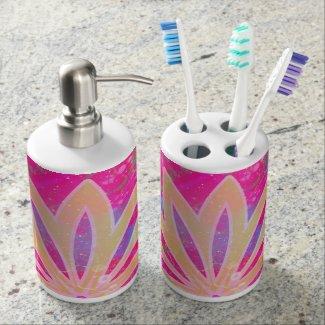 Jabonera y Vaso para Cepillos de dientes -Abstract Accesorios De Baño