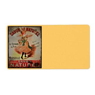 Jabones de Savon Naturel del vintage Etiquetas De Envío