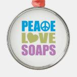 Jabones del amor de la paz adornos de navidad