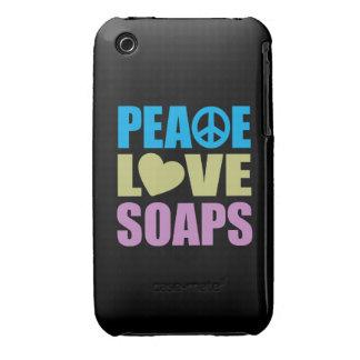 Jabones del amor de la paz carcasa para iPhone 3