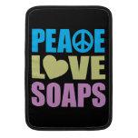 Jabones del amor de la paz funda  MacBook