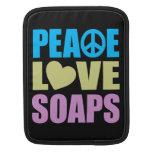 Jabones del amor de la paz funda para iPads