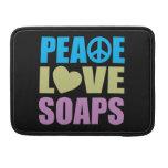 Jabones del amor de la paz fundas para macbook pro