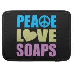 Jabones del amor de la paz fundas para macbooks