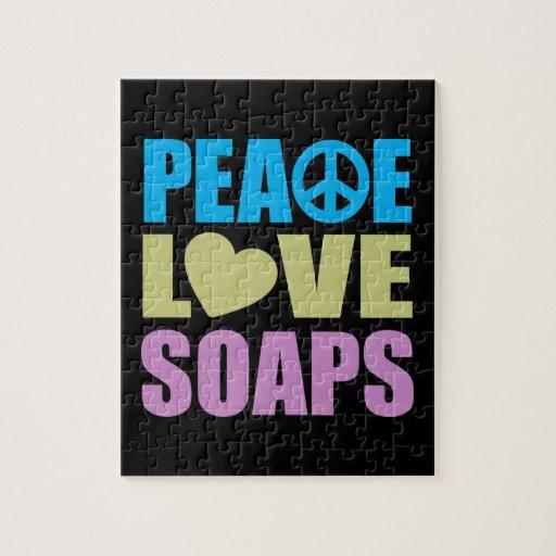 Jabones del amor de la paz puzzle con fotos