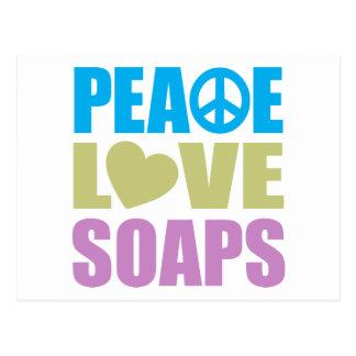 Jabones del amor de la paz postal