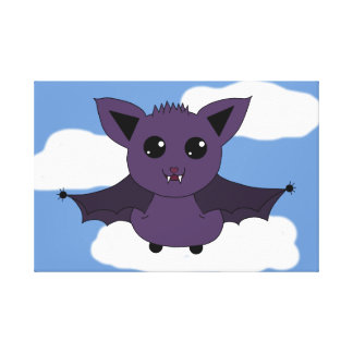 Jac the Bat; A Good day to fly Canvas Print