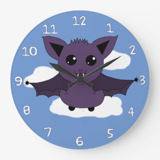Jac the Bat; A Good day to fly Large Clock