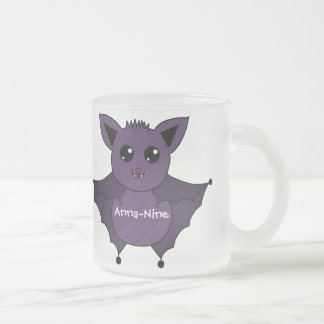 Jac the Bat Flying by night Frosted Glass Coffee Mug