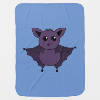 Jac the Bat Flying by night Receiving Blanket