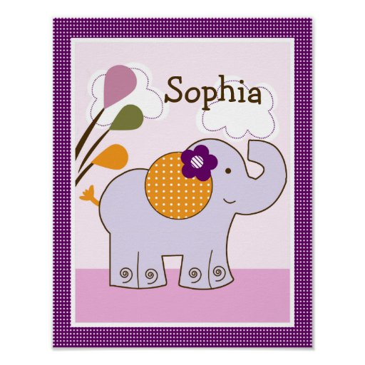 Jacana Elephant Girl Animals Art Poster/Print Poster