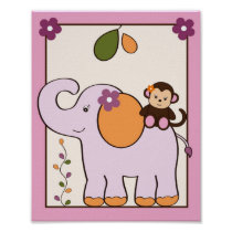 Jacana Jungle Animal Nursery Wall Art Print