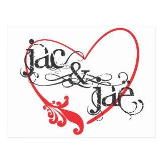 JacAndJae Logo white.ai Postcard