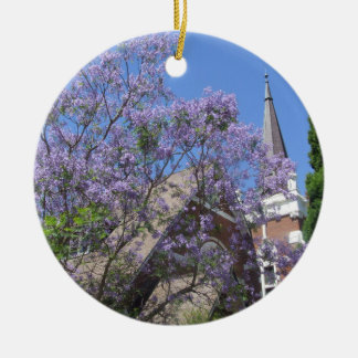Jacaranda & Church Ornament