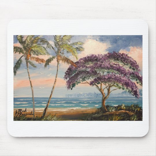 Jacaranda on the Beach Mouse Pad