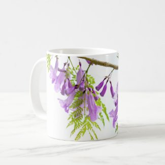 Jacaranda Purple Flowers Coffee Mug