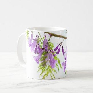 Jacaranda Purple Flowers Coffee Mug