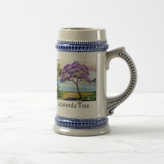 Jacaranda Tree Beer Stein Coffee Mug