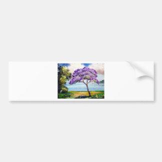 Jacaranda Tree Tropical Art Bumper Sticker