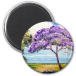 Jacaranda Tree Tropical Art Fridge Magnet