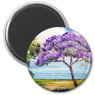Jacaranda Tree Tropical Art Magnet