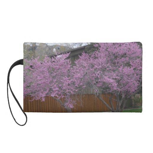 Jacaranda Tree Wristlet Bag