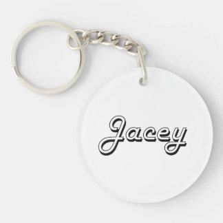 Jacey Classic Retro Name Design Single-Sided Round Acrylic Keychain