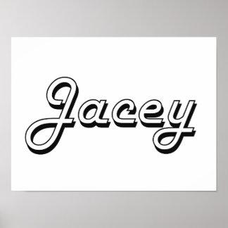 Jacey Classic Retro Name Design Poster