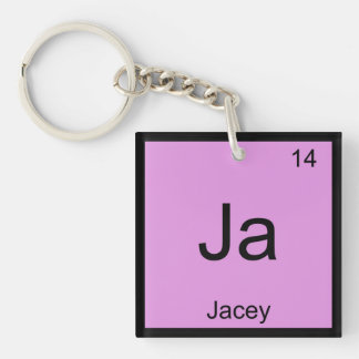 Jacey  Name Chemistry Element Periodic Table Single-Sided Square Acrylic Keychain