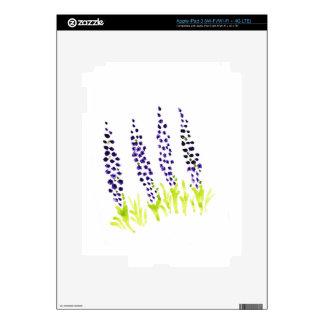 Jacinto de uva del Watercolour iPad 3 Pegatina Skin