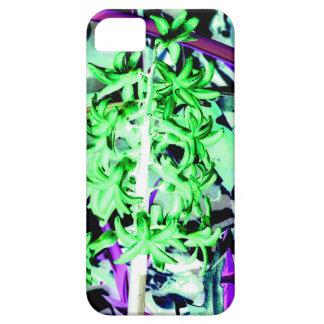 Jacinto verde de neón iPhone 5 carcasas