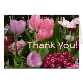Jacintos de los tulipanes de las margaritas felicitacion