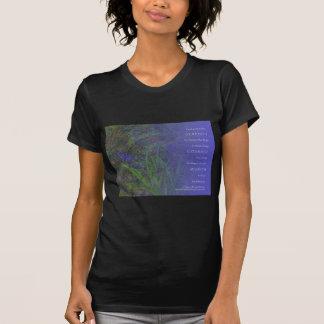 Jacintos del azul del rezo de la serenidad tee shirt