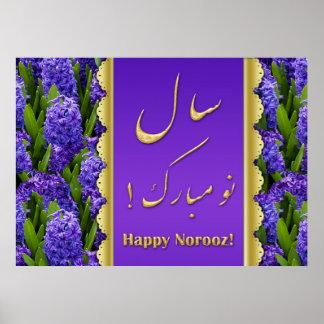 Jacintos felices elegantes de Norooz - poster