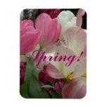 Jacintos rosados de los tulipanes rosados imán flexible