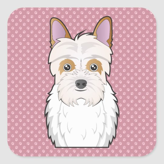 Jack-a-poo Cartoon Square Sticker