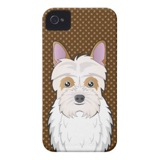 Jack-a-Poo Dog Cartoon Paws iPhone 4 Cover