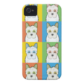 Jack-A-Poo Dog Cartoon Pop-Art iPhone 4 Case
