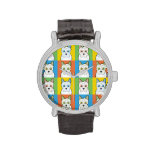 Jack-A-Poo Dog Cartoon Pop-Art Wrist Watches