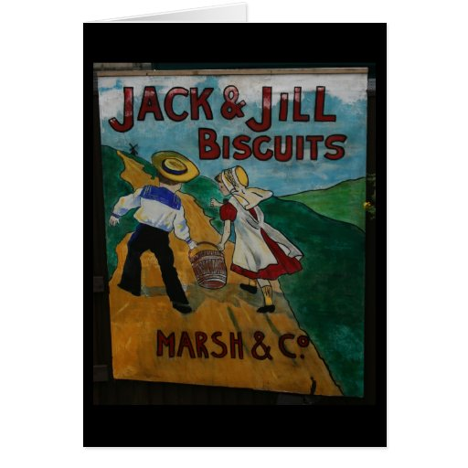 Jack and Jill Biscuits vintage advertising poster Greeting Card
