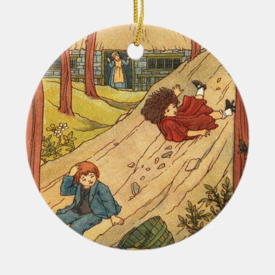 """Jack and Jill"" Ceramic Ornament"