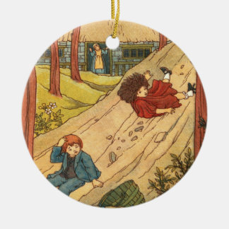 """Jack and Jill"" Round Ceramic Decoration"