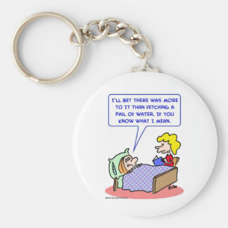 jack and jill pail of water keychain