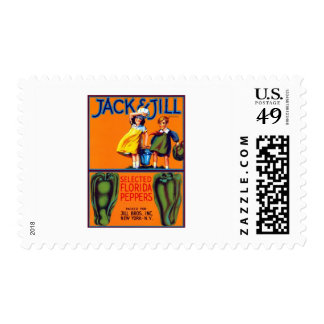 Jack and Jill Peppers Postage Stamps
