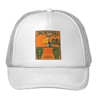 Jack and Jill Peppers Vintage Crate Label Trucker Hat