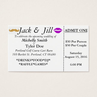 Jack and Jill Tickets